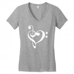 music heart rock baseball Women's V-Neck T-Shirt | Artistshot