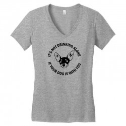 funny drinking dog Women's V-Neck T-Shirt | Artistshot
