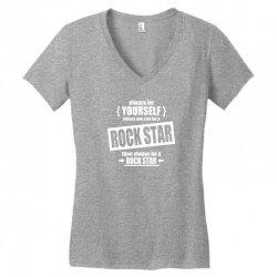 funny rock star Women's V-Neck T-Shirt | Artistshot