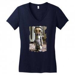 funny alien Women's V-Neck T-Shirt   Artistshot