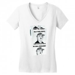 funny donald trump toilet paper Women's V-Neck T-Shirt   Artistshot