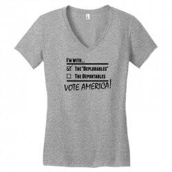 Deplorables America Women's V-Neck T-Shirt | Artistshot