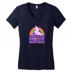 Funny Death Metal Unicorn Rainbow Women's V-Neck T-Shirt | Artistshot