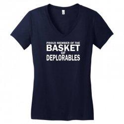 PROUD MEMBER OF THE BASKET OF DEPLORABLES Women's V-Neck T-Shirt | Artistshot
