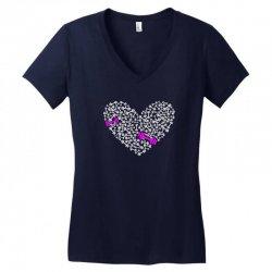 love gym pink dumble Women's V-Neck T-Shirt | Artistshot