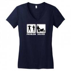 funny biker Women's V-Neck T-Shirt   Artistshot