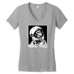 funny monkey astronomy Women's V-Neck T-Shirt | Artistshot