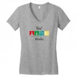 yes work science Women's V-Neck T-Shirt   Artistshot