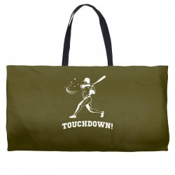 touchdown   funny sports Weekender Totes | Artistshot