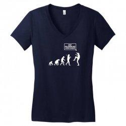 funny karate evolution Women's V-Neck T-Shirt   Artistshot