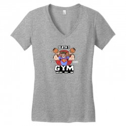 funny gym sloth the goonies fitness t shirt vectorized Women's V-Neck T-Shirt | Artistshot