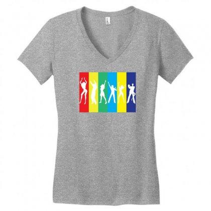 Rainbow Club Women's V-neck T-shirt Designed By Designbysebastian