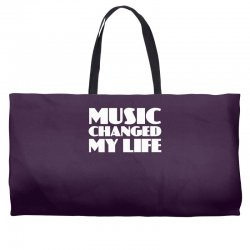music changed my life Weekender Totes | Artistshot