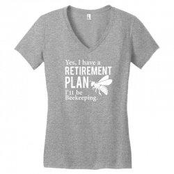 Yes I have a Retirement Plan Women's V-Neck T-Shirt | Artistshot