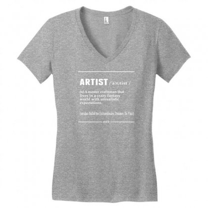 Artist Noun Women's V-neck T-shirt Designed By Designbysebastian