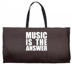 music is the answer printed Weekender Totes | Artistshot