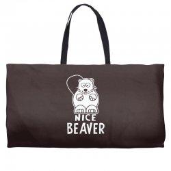 nice beaver Weekender Totes | Artistshot