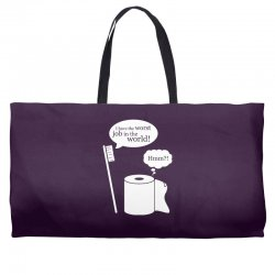 i have the worst job in the world! Weekender Totes | Artistshot