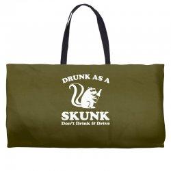 drunk as a skunk Weekender Totes | Artistshot