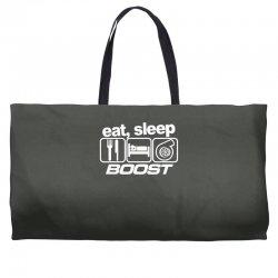 eat sleep boost Weekender Totes | Artistshot
