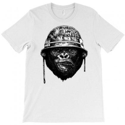 Gorrila Head Military Smoke T-shirt Designed By Sbm052017