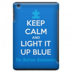 Keep Calm And Light It Up Blue For Autism Awareness iPad Mini Case | Artistshot