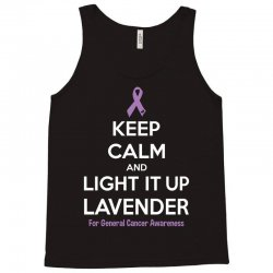 Keep Calm And Light It Up Lavender (For General Cancer Awareness) Tank Top | Artistshot