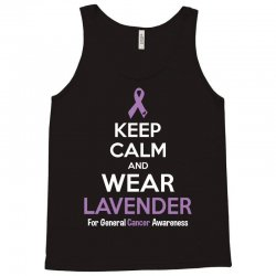 Keep Calm And Wear Lavender (For General Cancer Awareness) Tank Top | Artistshot