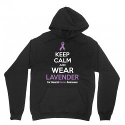 Keep Calm And Wear Lavender (For General Cancer Awareness) Unisex Hoodie | Artistshot