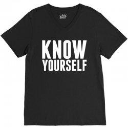Know Yourself V-Neck Tee   Artistshot