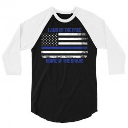 Land Of The Free, Home Of The Brave 3/4 Sleeve Shirt | Artistshot