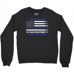 Land Of The Free, Home Of The Brave Crewneck Sweatshirt | Artistshot