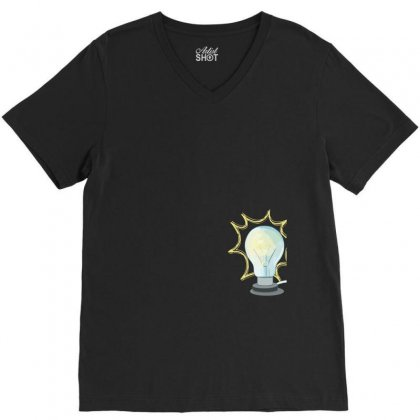 Light V-neck Tee Designed By Tshiart