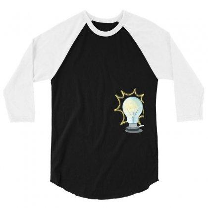 Light 3/4 Sleeve Shirt Designed By Tshiart