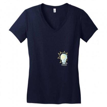 Light Women's V-neck T-shirt Designed By Tshiart