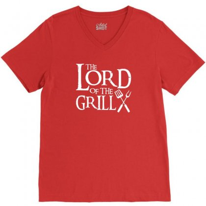 Lord Of The Grill V-neck Tee Designed By Tshiart