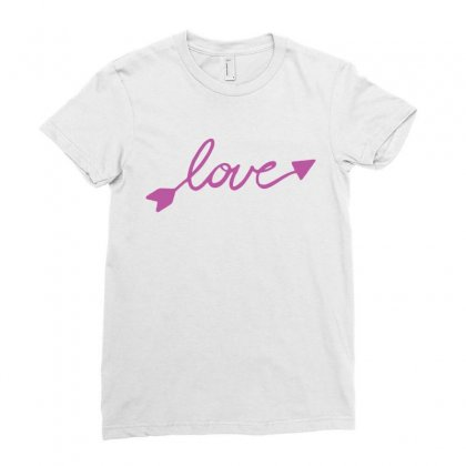 Love Ladies Fitted T-shirt Designed By Tshiart