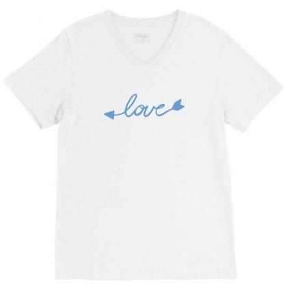 Love V-neck Tee Designed By Tshiart