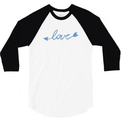 Love 3/4 Sleeve Shirt Designed By Tshiart