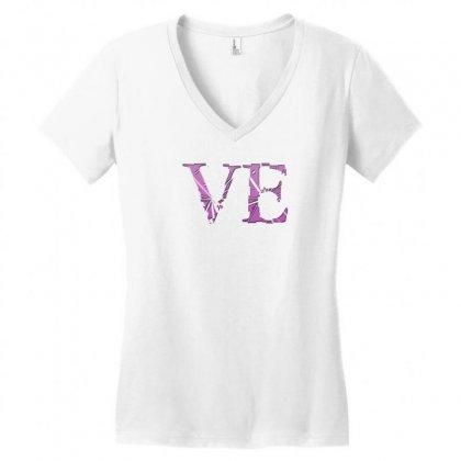 Love Women's V-neck T-shirt Designed By Tshiart