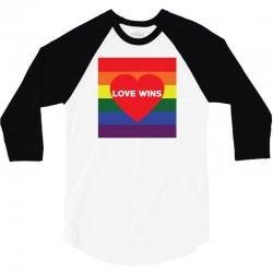 Love Wins 3/4 Sleeve Shirt | Artistshot