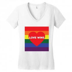 Love Wins Women's V-Neck T-Shirt | Artistshot