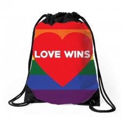 Love Wins Drawstring Bags | Artistshot