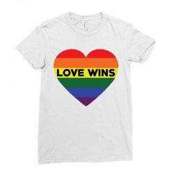 Love Wins Ladies Fitted T-Shirt   Artistshot