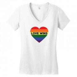 Love Wins Women's V-Neck T-Shirt   Artistshot
