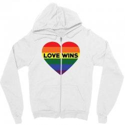 Love Wins Zipper Hoodie   Artistshot