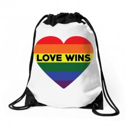 Love Wins Drawstring Bags   Artistshot