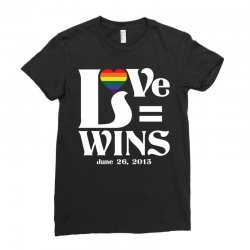 Love Wins Ladies Fitted T-Shirt | Artistshot