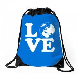 Love World Drawstring Bags | Artistshot