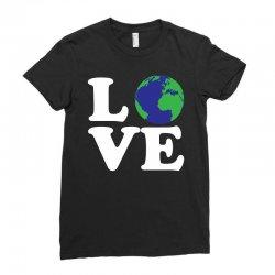 Love World Ladies Fitted T-Shirt | Artistshot